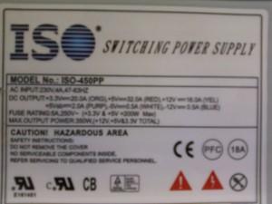 Блок питания ISO-450PP ATX