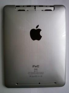 Китайский планшет iPad2 задняя сторона без наклейки и верхней крышки