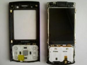 Nokia 6700s разобранная верхняя часть слайдера обе половинки