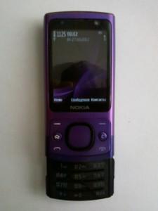 Сотовый телефон Nokia 6700s включенный