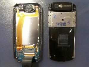 Samsung B5702 верхняя часть слайдера в разобранном виде