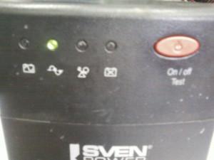 Работа от сети UPS Sven Power Pro+ 500
