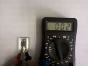 Проверка транзистора Q719 мультиметром