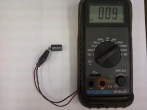 Проверка емкости конденсатора C744 47мкФx160В