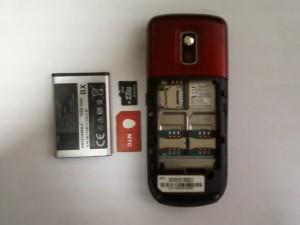 Samsung GT-C3212 с вытащенным аккумулятором, сим и флеш картами
