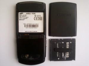 Samsung U600 в полуразобранном виде