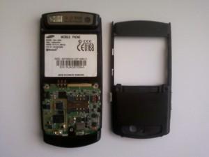 Samsung SGH-U600 в полуразобранном виде