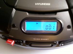 Бумбокс HYUNDAI H-1434 работает