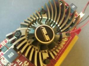 Вентилятор видеокарты ASUS EAH5450/DI/1GD3 (LP) без пыли