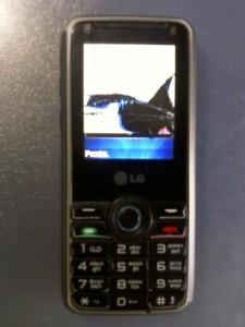 Разбитый дисплей сотового телефона LG GX200
