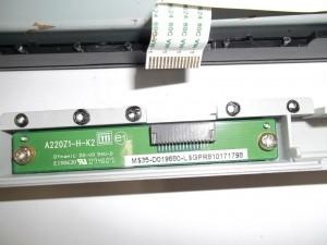 Отключенный шлейф кнопок управления монитора ViewSonic VA1916W-2