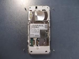 Сотовый Sony Ericsson K550i с открученными винтами