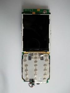 Собранная плата телефона Fly MC180 с перепаянным дисплеем