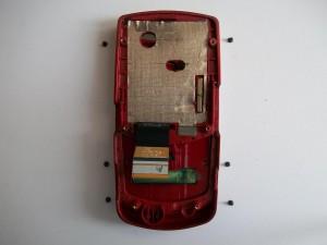 6 винтов верхней части слайдера сотового Samsung SGH-J610