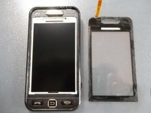 Отклееный тачскрин сотового телефона Samsung S5230W