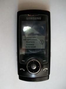 Встающий на блокировку слайдер Samsung SGH-U600
