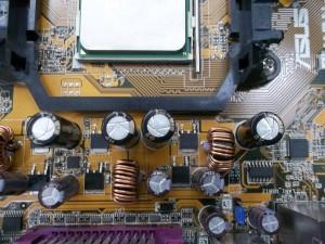 Материнская плата ASUS M2N-MX SE с новыми конденсаторами