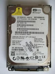 Снятый жесткий диск ноутбука HP Pavilion dv6700