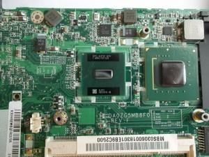 Микросхемы под вентилятором нетбука Acer Aspire One ZG5