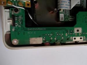 Плата в нетбуке Acer Aspire One ZG5