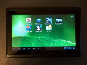 Allwinner A13 tablet pc. Установил немного приложений.