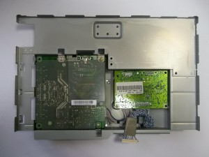 Железная станина монитора Samsung SyncMaster 740N с платами блока питания, инвертора и скалера