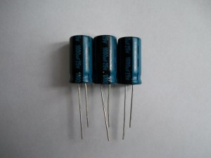 Три конденсатора 1000mFx25V для монитора Samsung SyncMaster 740N