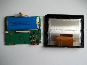 Плата и часть с дисплеем GPS навигатора JJ-Connect AUTONAVIGATOR 330