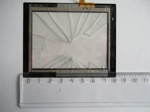 Измерение размеров тачскрина линейкой. GPS навигатор JJ-Connect AUTONAVIGATOR 330