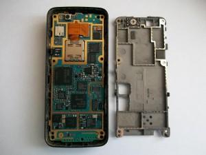 Средняя часть из алюминия. Сотовый телефон Nokia N82