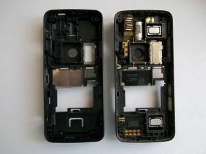 Два корпуса (новый и старый) сотового телефона Nokia N82