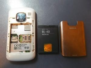 Сотовый телефон Nokia E5-00 без задней крышки и аккумулятора