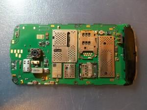Внешний вид платы сотового телефона Nokia E5-00