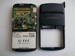 Две части сотового телефона Samsung SGH-D800