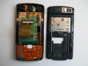 Механизм слайдера сотового телефона Samsung SGH-D800