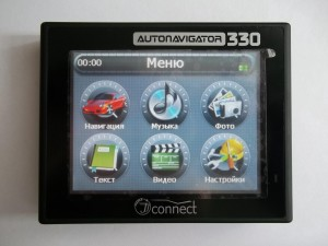 Включаем GPS навигатор AUTONAVIGATOR 330 JJ-Connect