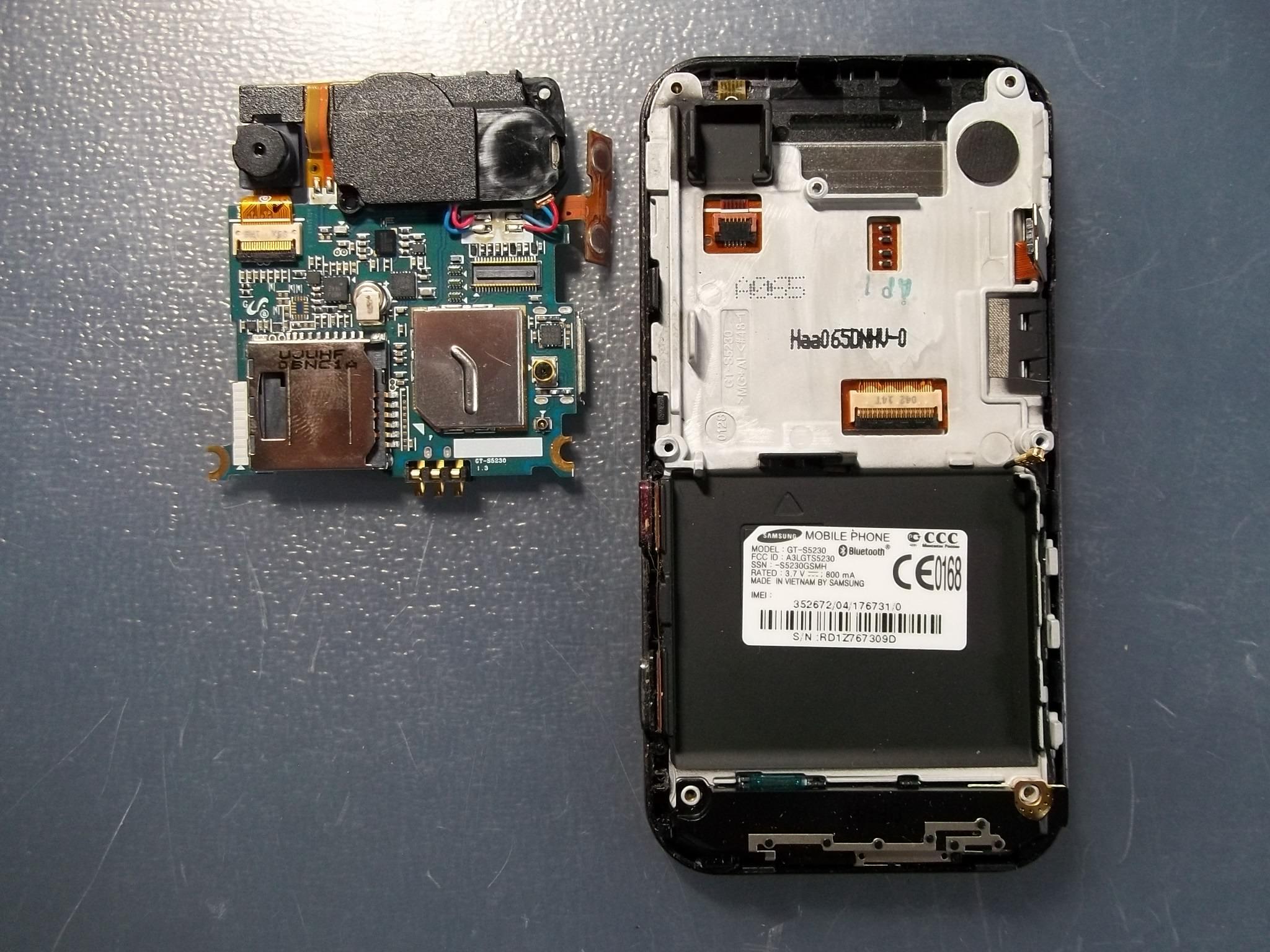 схема сотового телефона samsung s5230