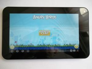 Angry Birds на экране планшета на VIA8850