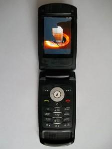 Сотовый телефон Samsung SGH-D830 с разбитым дисплеем