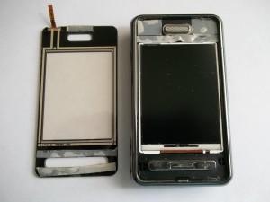 Отклееный таскрин сотового телефона Samsung SGH-D980