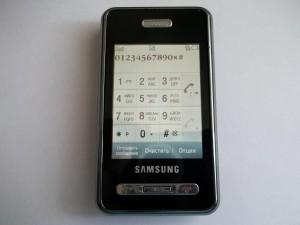Проверка тачскрина сотового телефона Samsung SGH-D980