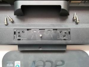 Откручиваем пятый винт корпуса монитора Acer AL2216W