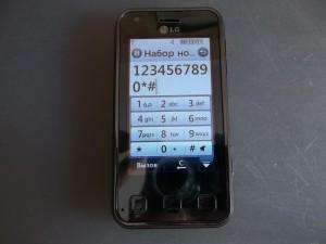Проверка тачскрина после замены LG KC910