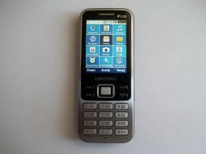 Меню сотового телефона Samsung GT-C3322