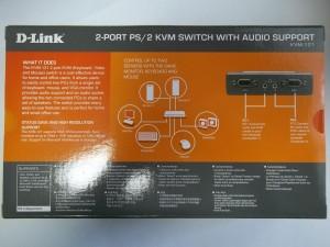 Фотография коробки D-Link KVM-121 с другой стороны