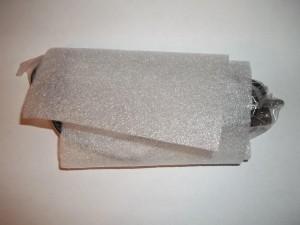 Щуп для осциллографа замотан в поролон
