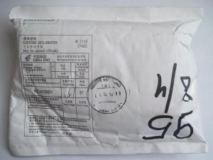 Посылка с бесконтактным цифровым термометром