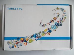 Немного помятая коробка с планшетом Onda V701