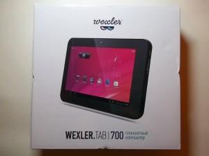 Коробка планшета Wexler.TAB 700 с одной стороны