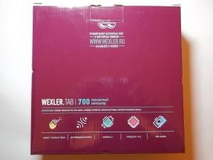 Коробка планшета Wexler.TAB 700 с другой стороны